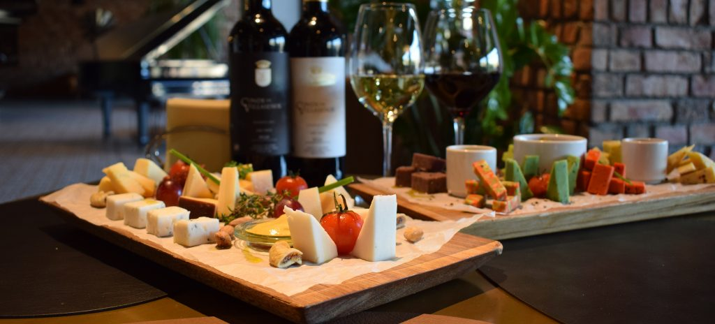 Wine and cheese night at FOUR